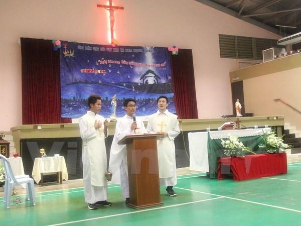 旅居马来西亚越南天主教徒共同庆祝2017年圣诞节 hinh anh 1