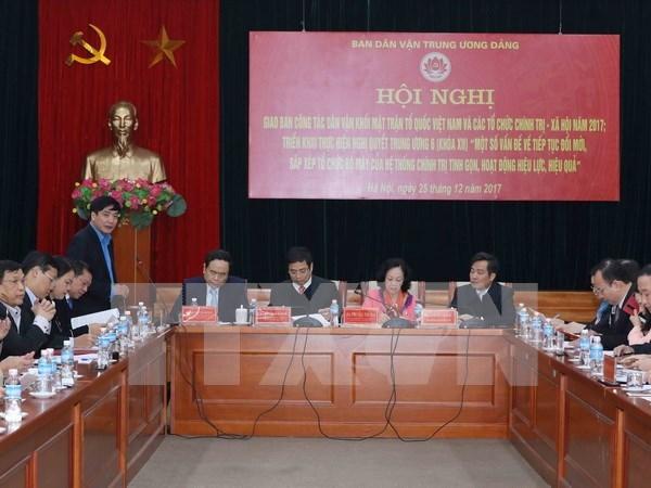 充分发挥越南祖国阵线和各政治社会组织在群众工作中的作用 hinh anh 1