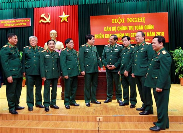 越南人民军总政治局全军政治干部会议在河内召开 hinh anh 1