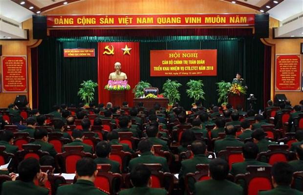 越南人民军总政治局全军政治干部会议在河内召开 hinh anh 2