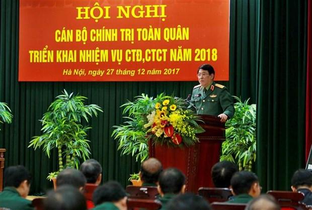 越南人民军总政治局全军政治干部会议在河内召开 hinh anh 3