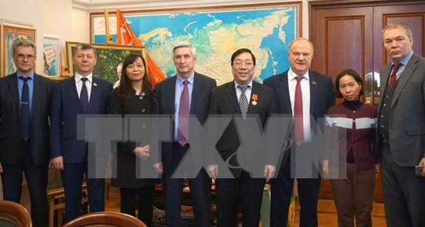 俄罗斯共产党主席对越南的支持予以高度评价 hinh anh 1