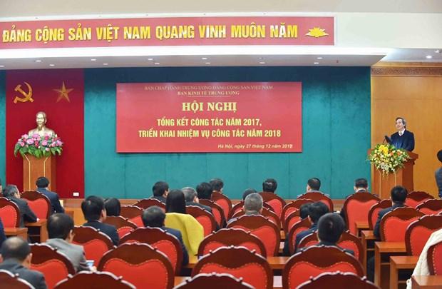 越共中央经济部全面深化改革当好参谋助手提高工作质量 hinh anh 1