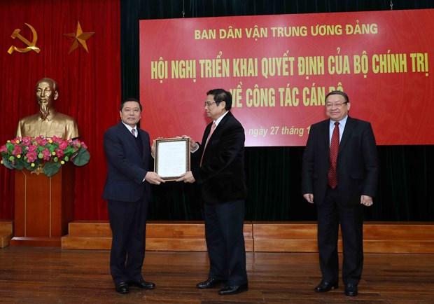 越共中央政治局关于干部工作决定正式展开 hinh anh 2