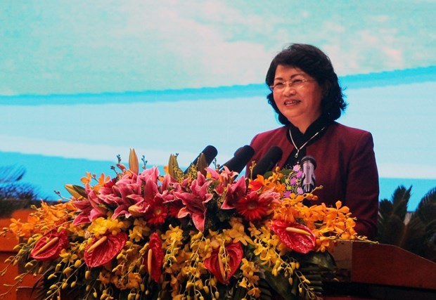 越南国家副主席邓氏玉盛:将竞赛奖励工作与中央各项决议和指示相结合 hinh anh 1
