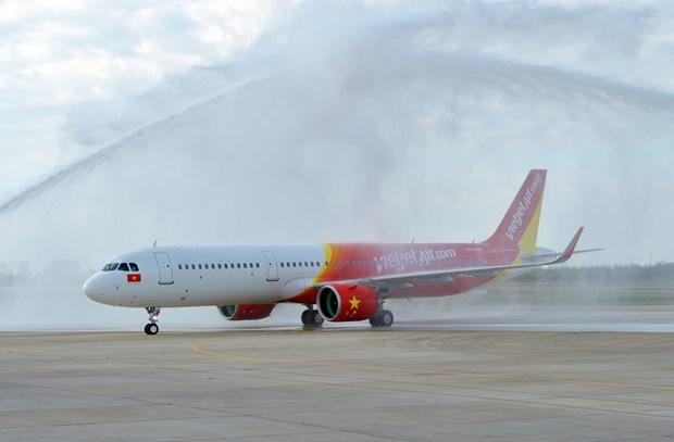 越捷航空公司接收首架A321neo飞机 hinh anh 3
