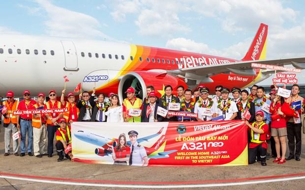 越捷航空公司接收首架A321neo飞机 hinh anh 4