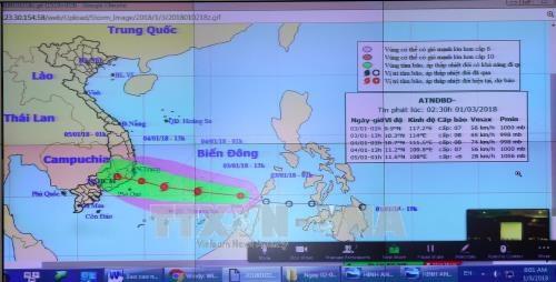 """越南主动应对2018年第一号台风""""布拉万"""" hinh anh 1"""