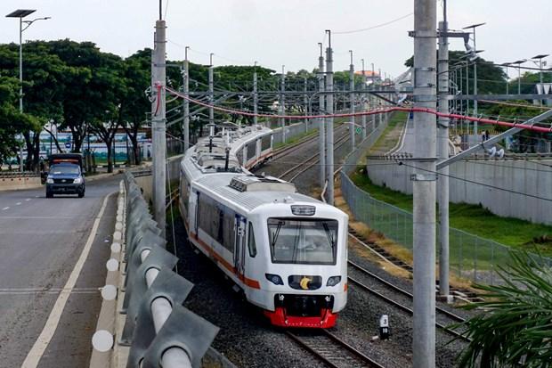 印尼启用首都雅加达市中心至国际机场专线列车 hinh anh 1