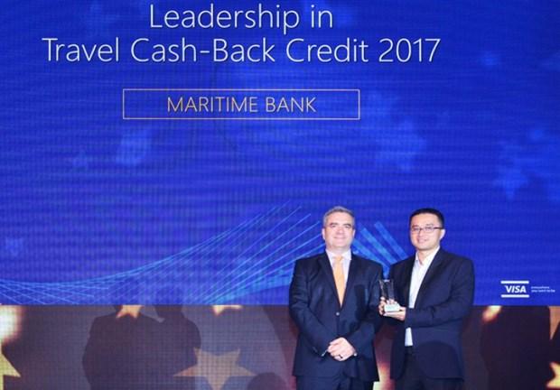 越南海事商业股份银行荣获2017年越南最佳旅游返现信用卡奖 hinh anh 1