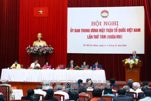 政府总理阮春福:政府一直认真倾听越南祖国阵线的意见建议 hinh anh 1