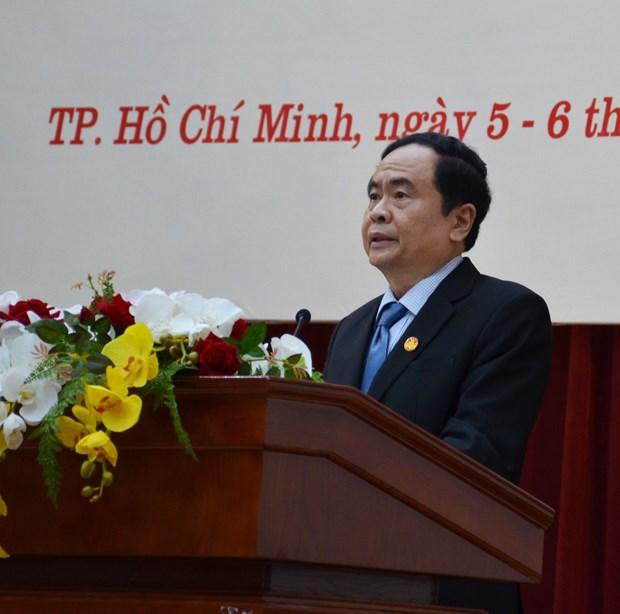 第八届越南祖国阵线中央委员会第八次会议圆满落幕 hinh anh 1