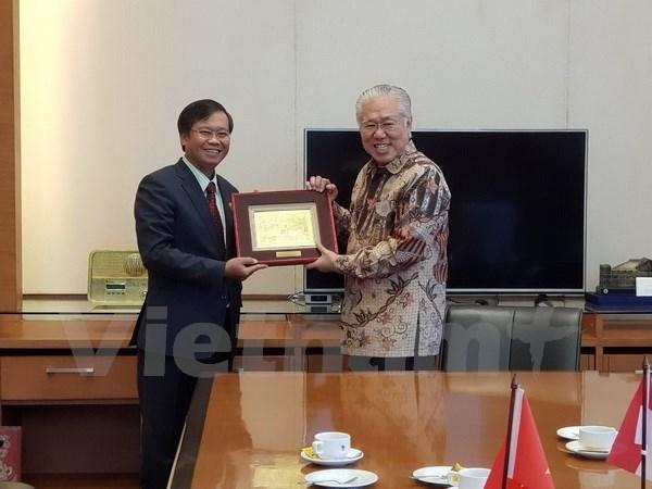 越南与印尼增进团结情谊 推进双边关系 hinh anh 1