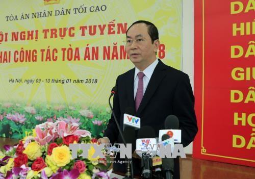 陈大光:法院部门要及时严格对各起贪污案件及经济犯罪案件进行审判 hinh anh 1