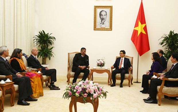 越南政府副总理武德儋会见国际SOS儿童村组织主席悉达多•考尔 hinh anh 1