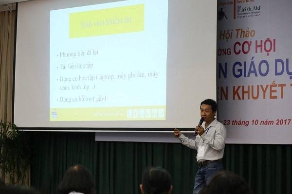 为残疾大学生创造更多接受教育的机会 hinh anh 2