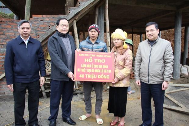 越南祖国阵线关心安沛省灾后恢复重建工作 hinh anh 1