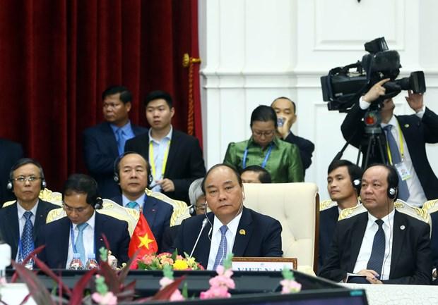 阮春福总理出席澜沧江-湄公河合作第二次领导人会议 hinh anh 1