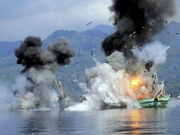 印尼官员促渔业部停止炸毁外国渔船 hinh anh 1