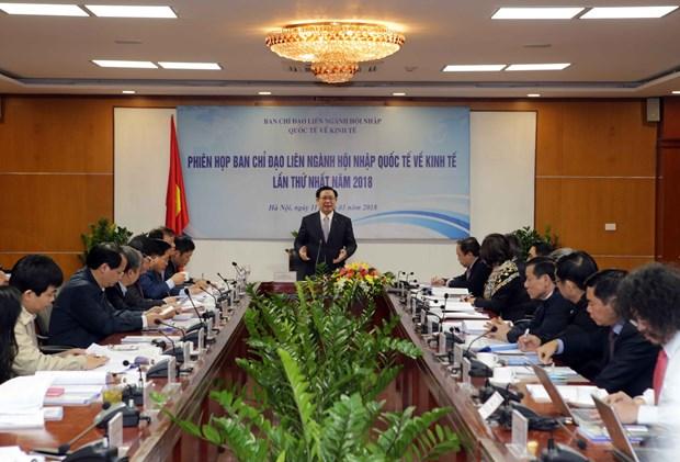 王廷惠副总理:推动经济一体化是2018年的核心任务 hinh anh 1