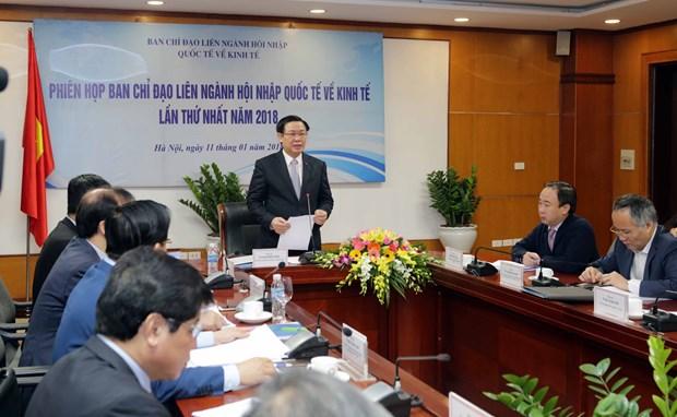 王廷惠副总理:推动经济一体化是2018年的核心任务 hinh anh 2