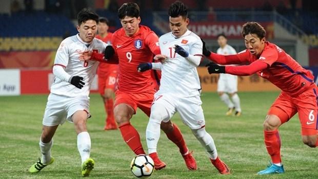 2018年U23亚洲杯D组:越南U23足球队首战告负 hinh anh 1