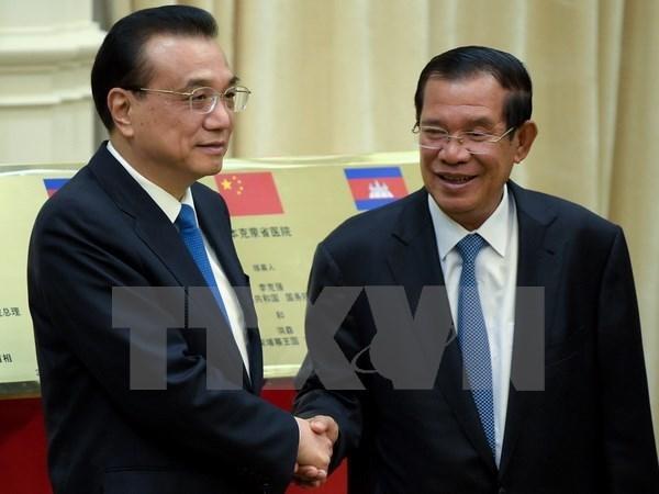 柬埔寨与中国签署多项双边合作协议 hinh anh 1