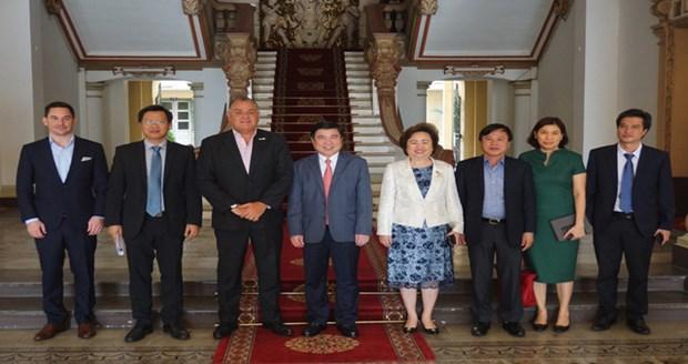 胡志明市领导会见希尔顿酒店集团和BRG集团领导 hinh anh 1