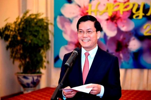 越南外交部举行2018年外国驻越外交代表机构、驻越外国记者和新闻随员代表新年见面会 hinh anh 2
