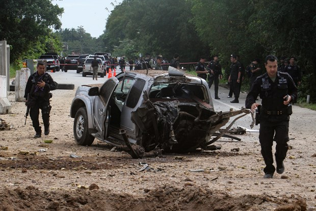 泰国南部炸弹袭击造成6名士兵受伤 hinh anh 1