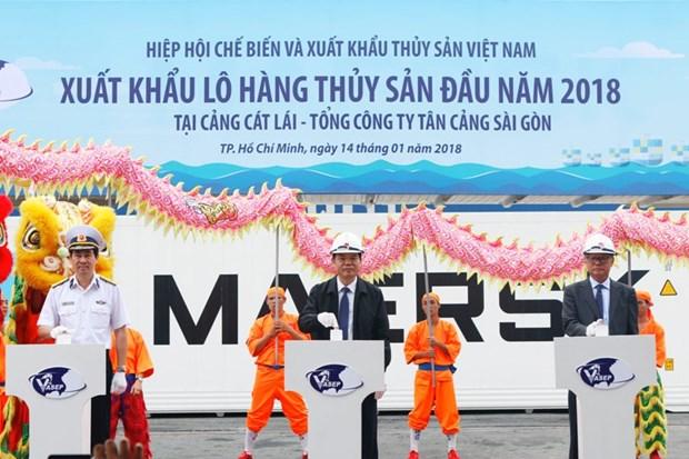 2018年首批水产品对外出口 hinh anh 1