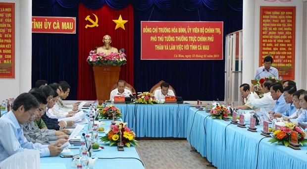 张和平:金瓯省需采取突破性措施来确保经济可持续发展 hinh anh 1
