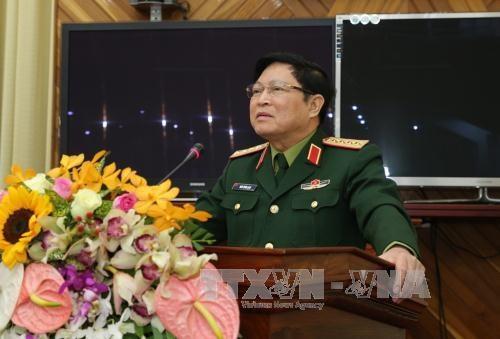 越南高级军事代表团对老挝进行正式访问 hinh anh 1
