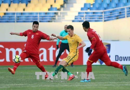 2018年U23亚洲杯D组:越南U23足球队1-0击败澳大利亚U23足球队 hinh anh 2