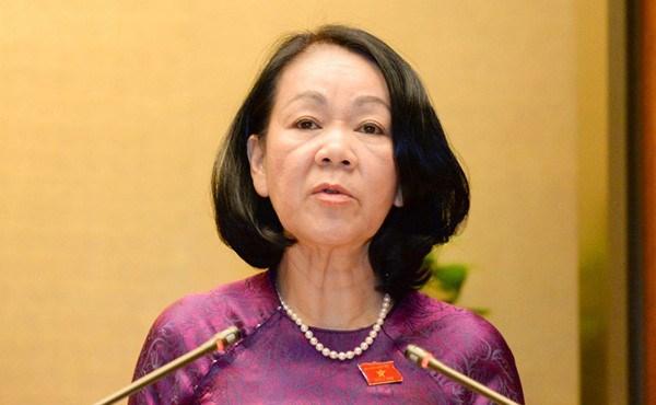 张氏梅:即席发挥妇联在维护妇女合法权益中的作用 hinh anh 1