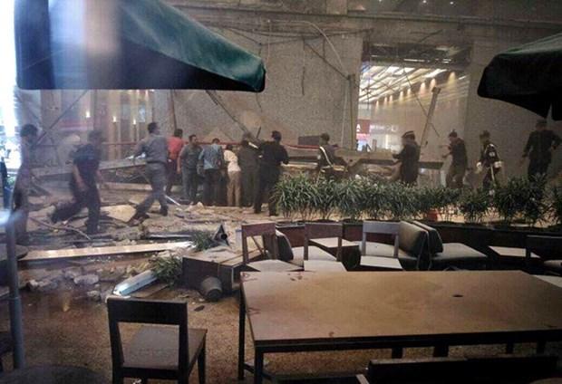 印尼证交所楼层坍塌77伤 其中50多名伤者为大学生 hinh anh 1