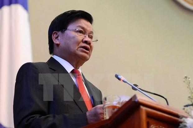 老挝总理通伦访缅 深化两国合作关系 hinh anh 1