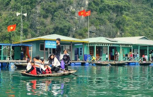 越南下龙湾万门渔村成最值得一去的村庄 hinh anh 1
