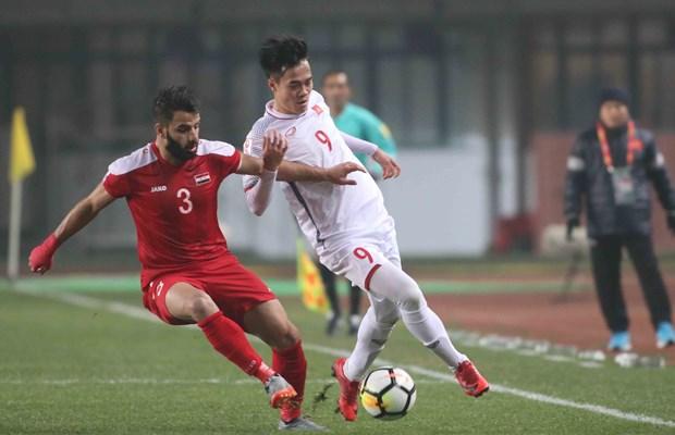 2018亚足联U23锦标赛:越南U23足球队晋级八强 阮春福致贺信 hinh anh 1