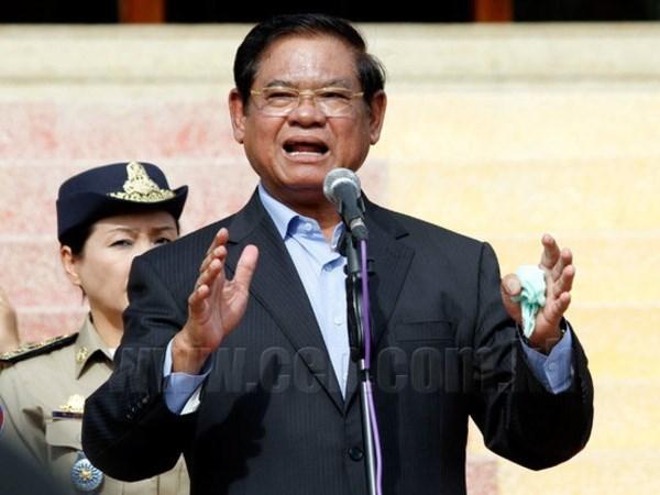 老挝与柬埔寨就安全问题深入讨论 hinh anh 1