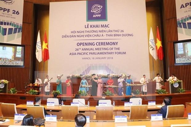亚太议会论坛第26届年会进入首日会议议程 hinh anh 1