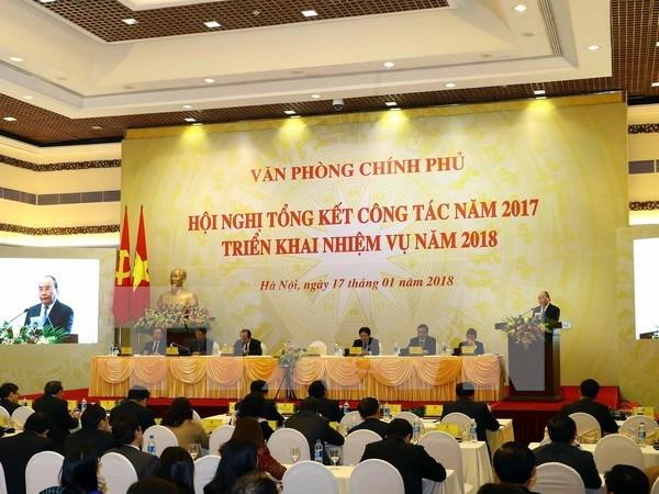 阮春福总理:政府办公厅加强参谋工作 寻求生产力发展的余地和释放空间 hinh anh 1