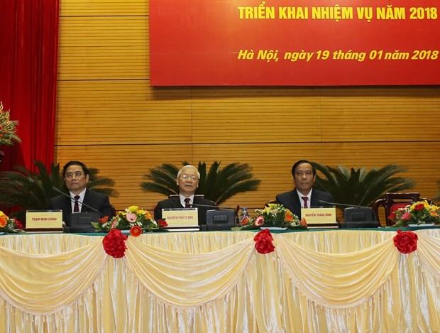 越共中央组织部召开2018年全国党建工作部署会议 hinh anh 1