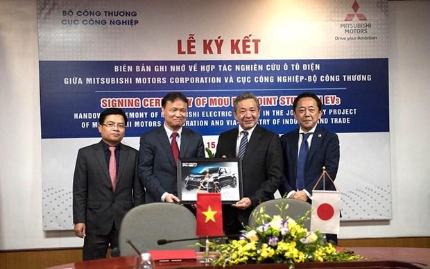 越南与日本三菱汽车集团合作发展环境友好型的电动汽车 hinh anh 2