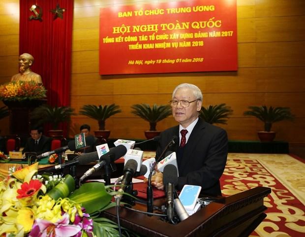 越共中央组织部召开2018年全国党建工作部署会议 hinh anh 3