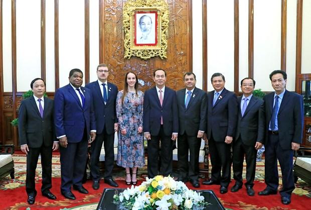 各国议会联盟主席希望进一步加强与越南国会的合作 hinh anh 2