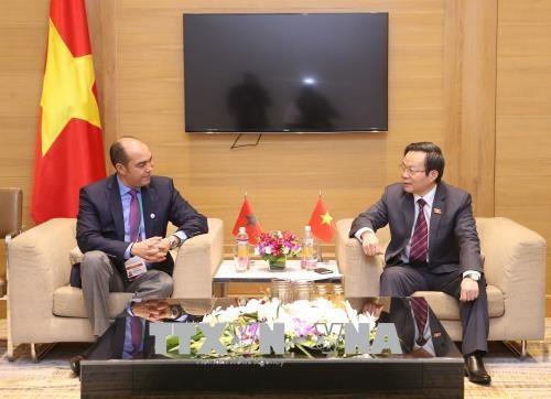 亚太议会论坛第26届年会:越南国会副主席冯国显会见摩洛哥代表团 hinh anh 1
