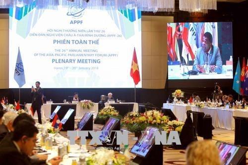 APPF第26届年会:与会代表就亚太地区合作与发展纷纷建言献策 hinh anh 1