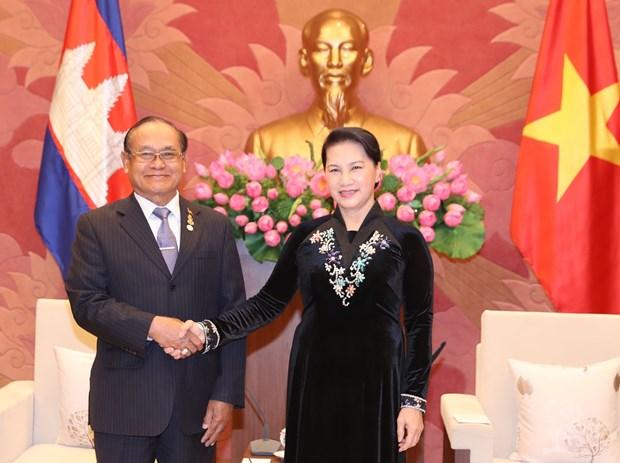 越南国会主席阮氏金银会见柬埔寨王国参议院副议长狄诺 hinh anh 1