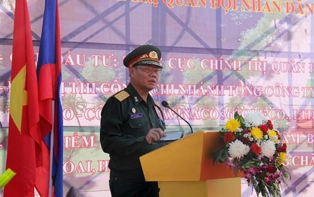 越南援建的老挝人民军队政治理论学院一期工程正式动工 hinh anh 1